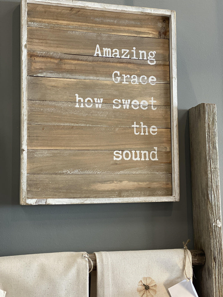 Amazing Grace Farmhouse Sign - The Vintage Home Studio