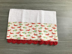 Teddie's Merry Christmas Crochet Kitchen Bar Mop Towel