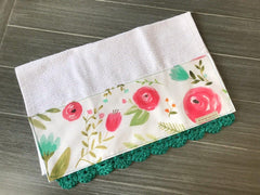 Happy Flowers Crochet Kitchen Bar Mop Towel