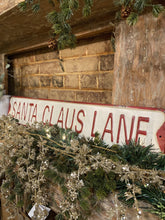Load image into Gallery viewer, Santa Claus Lane Tin Sign - The Vintage Home Studio