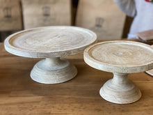 Load image into Gallery viewer, Wood Pedestal Cake Plates