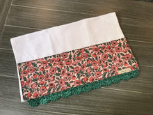Load image into Gallery viewer, Coral Peonies Rifle Paper Company Crochet Kitchen Bar Mop Towel - The Vintage Home Studio