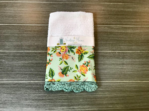 Paris Print in Mint Rifle Paper Company Crochet Kitchen Bar Mop Towel