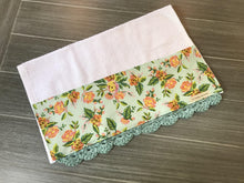 Load image into Gallery viewer, Paris Print in Mint Rifle Paper Company Crochet Kitchen Bar Mop Towel