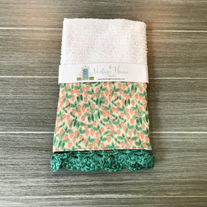 Strawberry Fields Rifle Paper Company Crochet Kitchen Bar Mop Towel