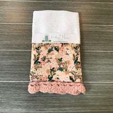 Load image into Gallery viewer, Pink Meadow Rifle Paper Company Crochet Kitchen Bar Mop Towel