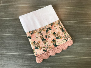 Pink Meadow Rifle Paper Company Crochet Kitchen Bar Mop Towel