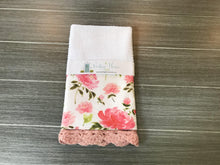 Load image into Gallery viewer, Pretty Please Peonies Crochet Kitchen Bar Mop Towel