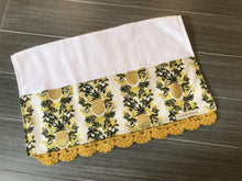 Load image into Gallery viewer, Pineapple Stripe in Cream Rifle Paper Company Crochet Kitchen Bar Mop Towel
