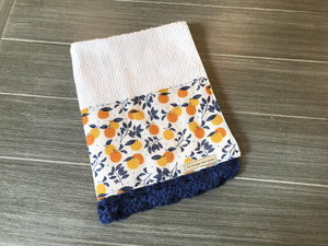 Simple Sweet Orange Treats Crochet Kitchen Bar Mop Towel