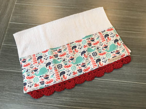 Ahoy! Crochet Kitchen Bar Mop Towel