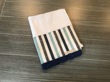 Load image into Gallery viewer, Nautical Stripe Crochet Kitchen Bar Mop Towel