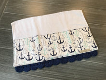 Load image into Gallery viewer, Anchors Away Crochet Kitchen Bar Mop Towel