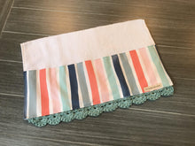 Load image into Gallery viewer, Coastal Stripe Crochet Kitchen Bar Mop Towel