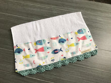 Load image into Gallery viewer, Fish in the Sea Crochet Kitchen Bar Mop Towel