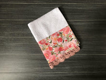 Load image into Gallery viewer, Blush Watercolor Garden Crochet Kitchen Bar Mop Towel - The Vintage Home Studio