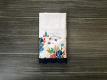 Load image into Gallery viewer, Red and Blue Bouquet Crochet Kitchen Bar Mop Towel - The Vintage Home Studio