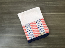 Load image into Gallery viewer, Stars and Stripes Crochet Kitchen Bar Mop Towel