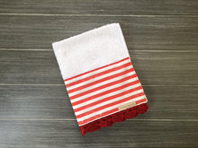 Load image into Gallery viewer, Red Stripes Crochet Kitchen Bar Mop Towel
