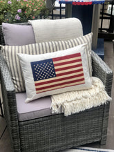 Load image into Gallery viewer, Vintage Inspired American Flag Pillow (Cover Only)