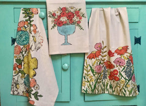French Floral Tea Towels - The Vintage Home Studio