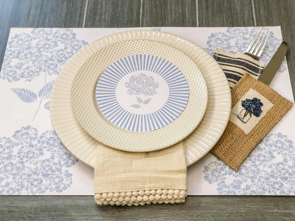 Hydrangea Plate Accents - The Vintage Home Studio