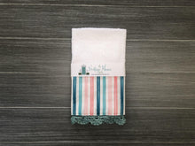 Load image into Gallery viewer, Summer Pastel Stripes Crochet Kitchen Bar Mop Towel
