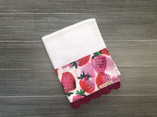 Load image into Gallery viewer, Market Strawberries Crochet Kitchen Bar Mop Towel