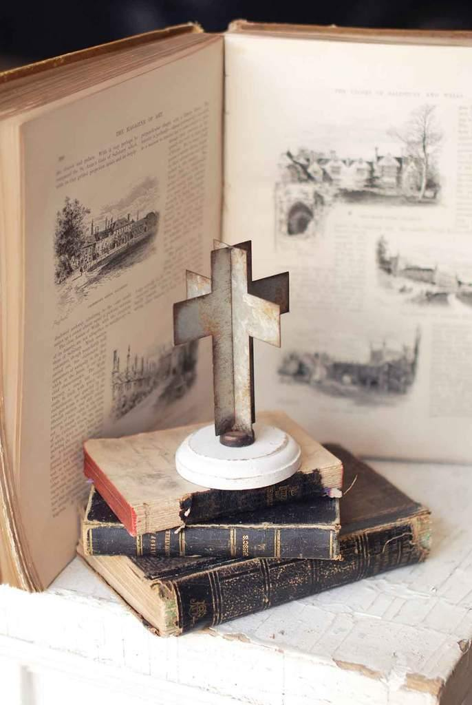 Tabletop Grace Cross - The Vintage Home Studio