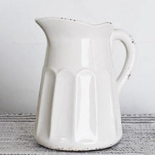 Load image into Gallery viewer, Old White Pitcher - The Vintage Home Studio