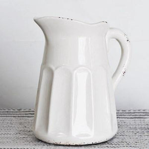 Old White Pitcher - The Vintage Home Studio