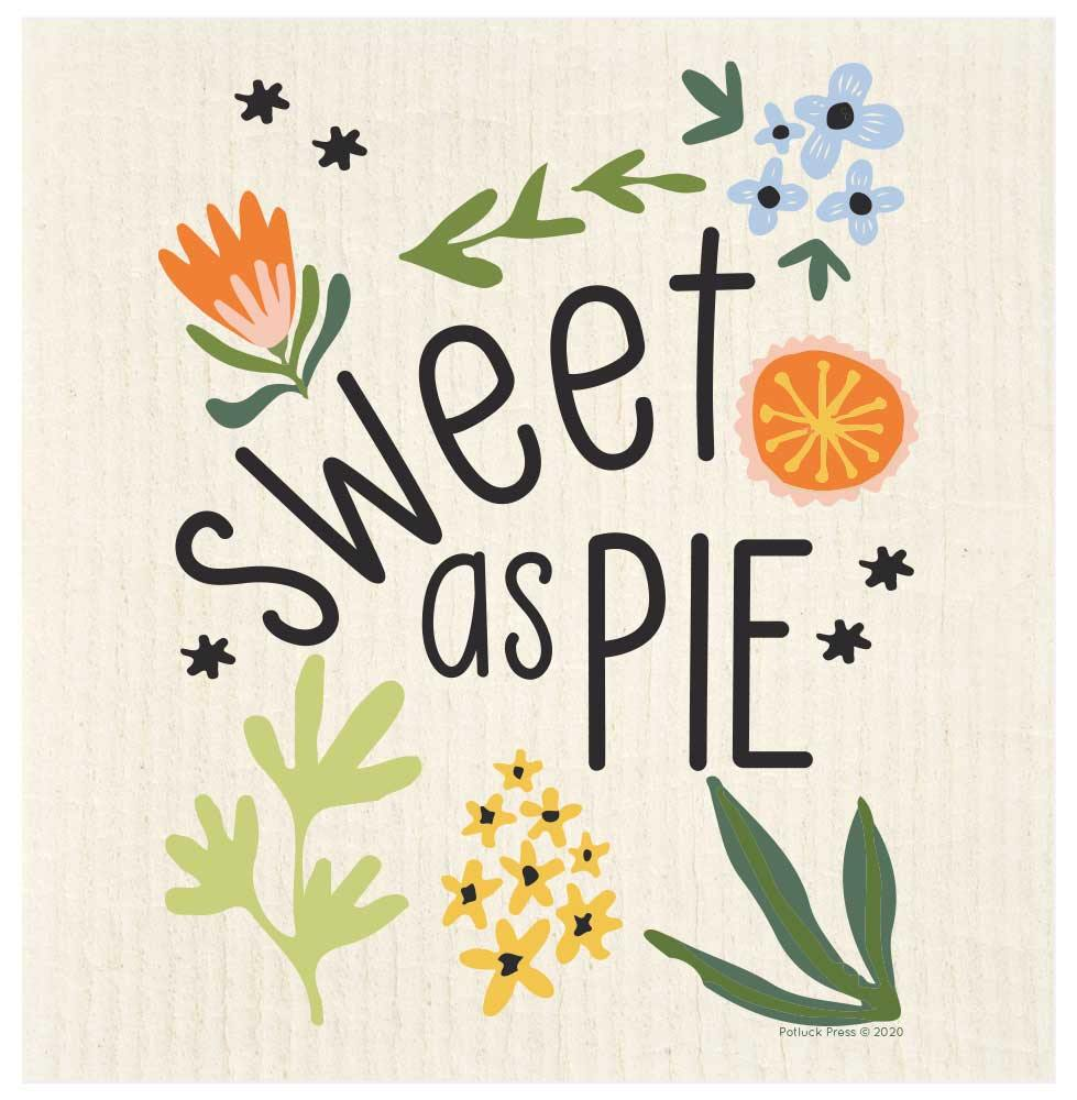 Sweet As Pie Flowers Swedish Dishcloth - The Vintage Home Studio