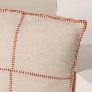 Orange Patchwork Pillow - The Vintage Home Studio