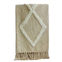 Load image into Gallery viewer, Modern Tribal Tufted Cotton Throw - The Vintage Home Studio