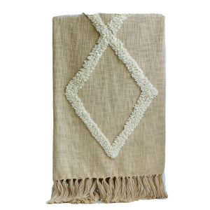 Modern Tribal Tufted Cotton Throw - The Vintage Home Studio