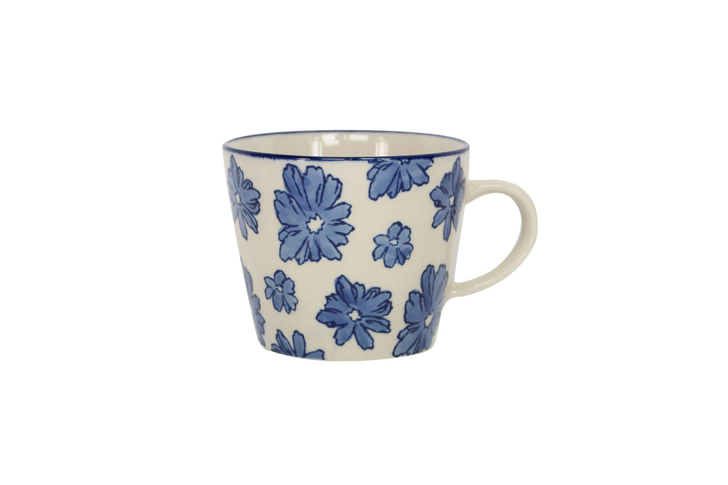 Blue Flowers Ceramic Mug - The Vintage Home Studio