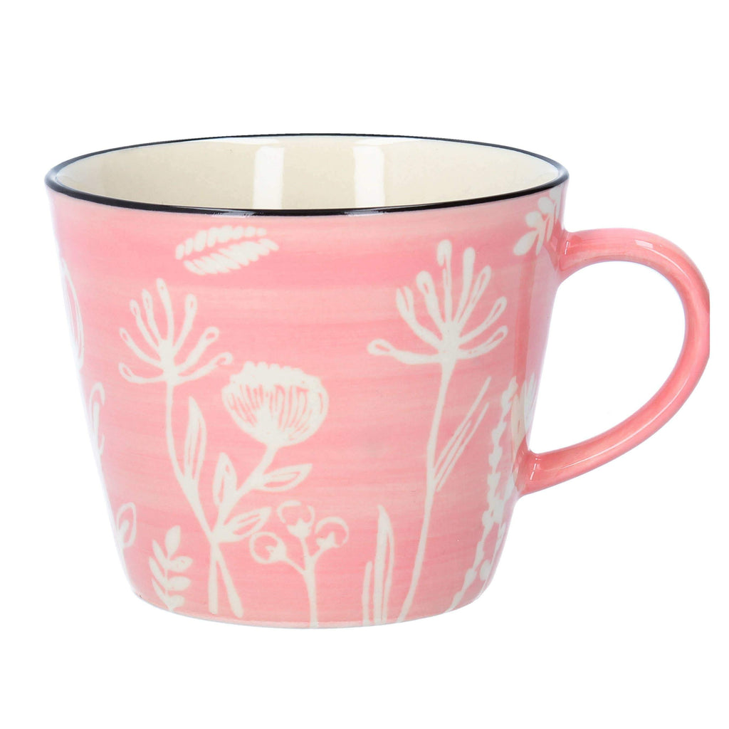 Pink Meadow Ceramic Mug - The Vintage Home Studio