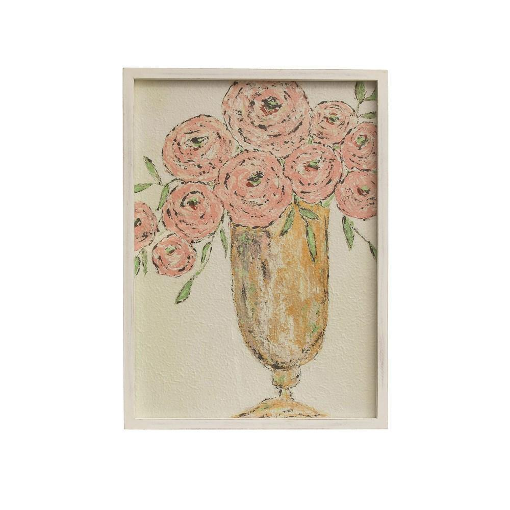 Pink Roses Wall Art - The Vintage Home Studio