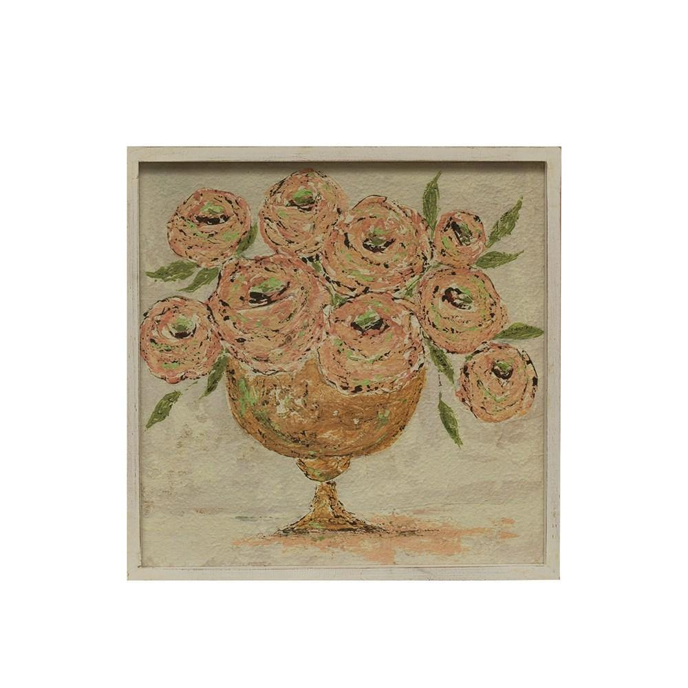 Square Flowers in Vase Art