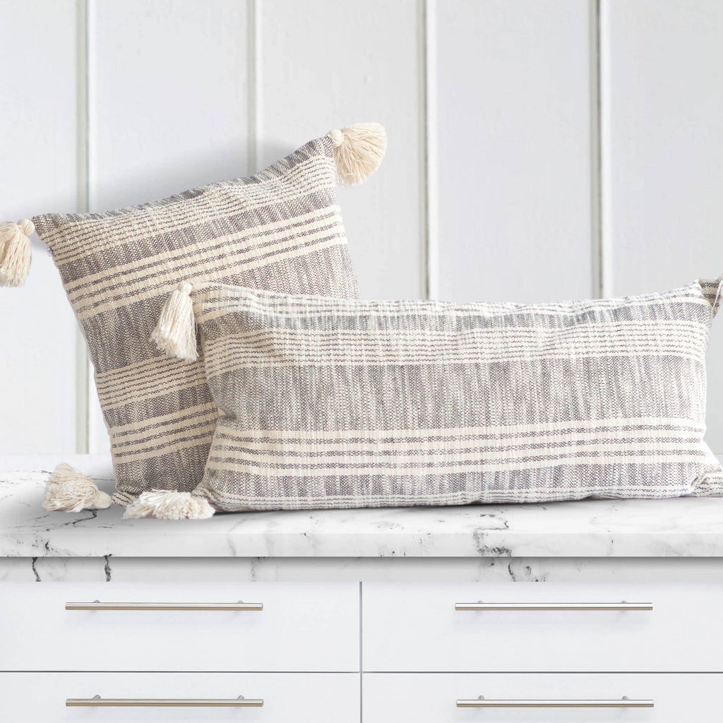 Boho Cotton Pillows with Tassels - The Vintage Home Studio