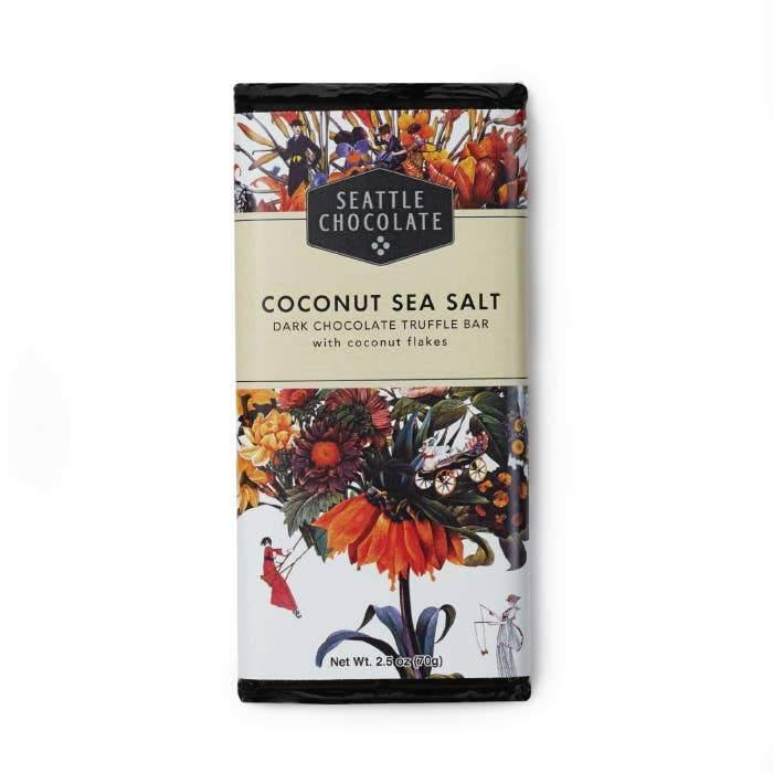 Coconut Sea Salt Truffle Bar - The Vintage Home Studio