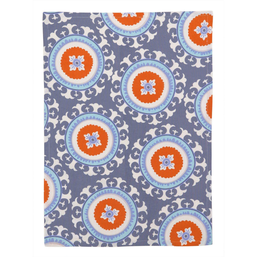 Stella Purple Red Circle Kitchen Towel - The Vintage Home Studio