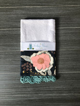 Load image into Gallery viewer, RETIRING Sprinkled Peonies Crochet Kitchen Bar Mop Towel