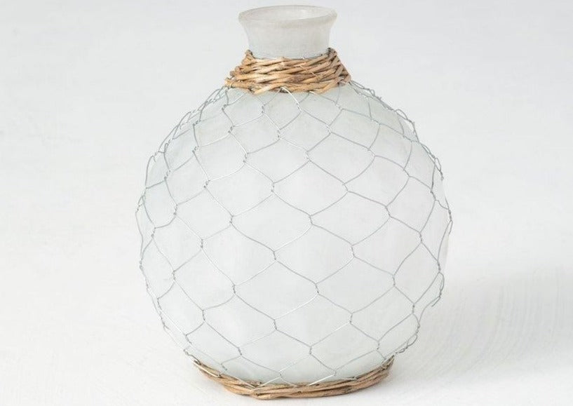 Chicken Wire Bubble Bottles - The Vintage Home Studio