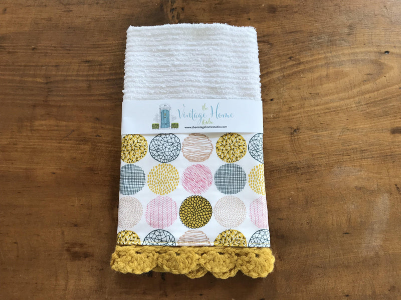 RETIRING Texture Slots Soft Crochet Kitchen Bar Mop Towel