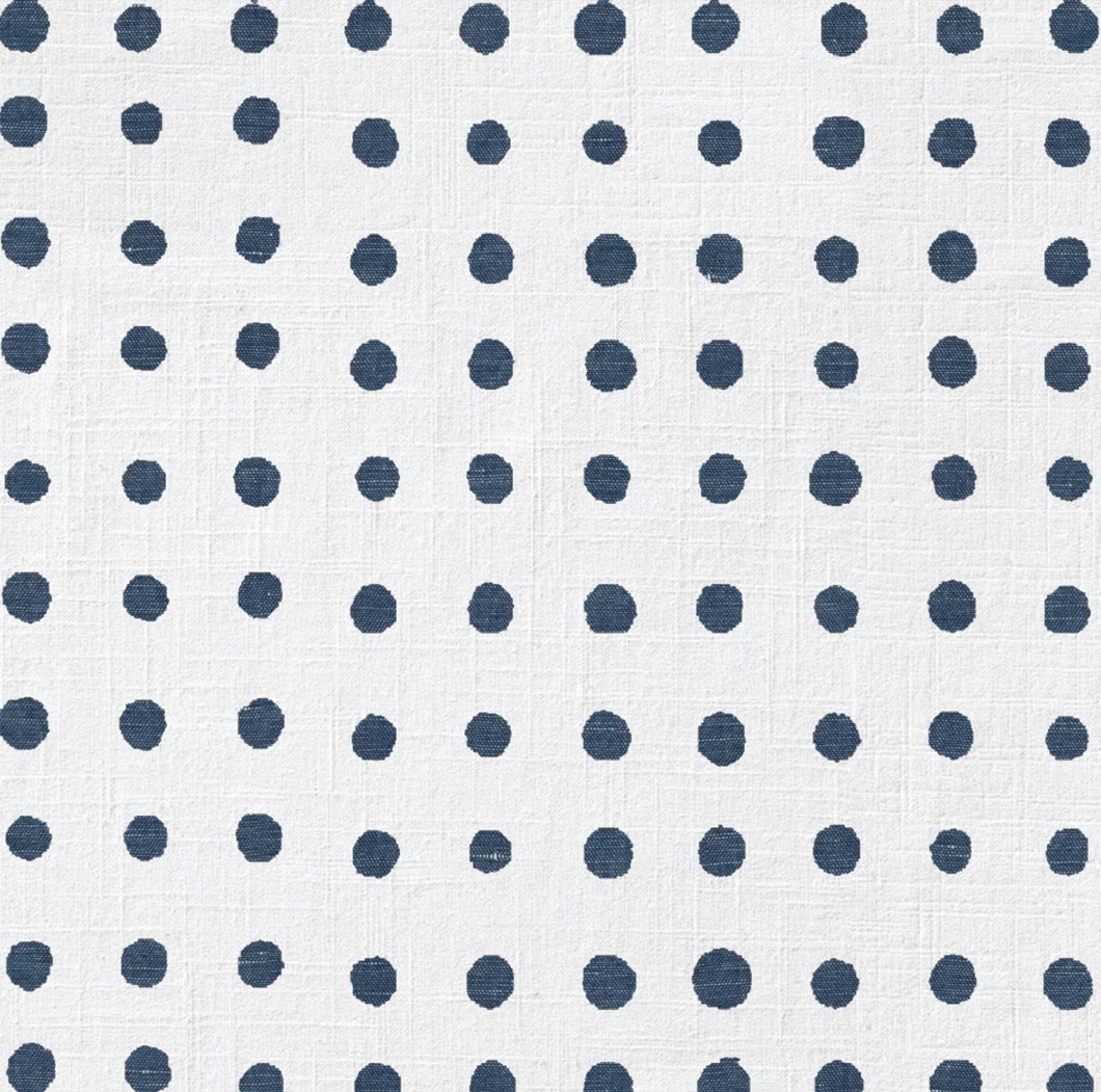 Denim Polka Dot Chargers