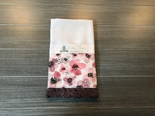 Load image into Gallery viewer, Painted Berry Floral Crochet Kitchen Bar Mop Towel