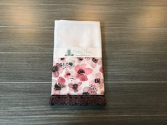 Painted Berry Floral Crochet Kitchen Bar Mop Towel