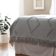 Load image into Gallery viewer, Modern Tribal Tufted Cotton Throw