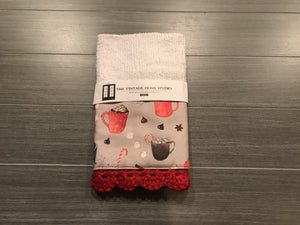 Hot Cocoa Crochet Kitchen Bar Mop Towel